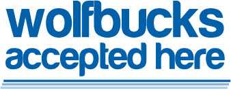 wolfbucks accepted here logo